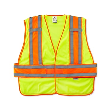 Ergodyne® GloWear® 8240HL Class 2 Hi-Visibility Two-Tone Expandable Vest, Lime, Medium/Large