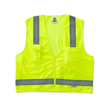 Ergodyne® GloWear® 8250Z Class 2 Hi-Visibility Surveyors Vest, Lime, Small/Medium
