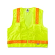 Ergodyne® GloWear® 8250ZHG Class 2 Hi-Gloss Surveyors Vest, Lime, Small/Medium