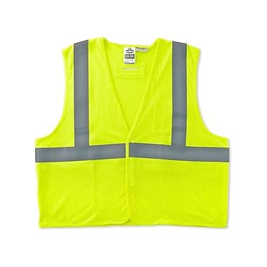 Ergodyne® GloWear® 8260HL Class 2 Hi-Visibility Flame Resistant Modacrylic Vest, Lime, Small/Medium