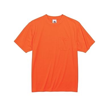 Ergodyne® GloWear® 8089 Non-Certified Hi-Visibility Safety T-Shirt, Orange, 2XL