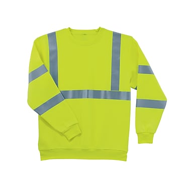 Ergodyne® GloWear® 8397 Class 3 Hi-Visibility Sweatshirt, Lime, Medium