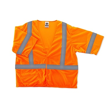 Ergodyne® GloWear® 8310HL Class 3 Hi-Visibility Economy Vest, Orange, Small/Medium