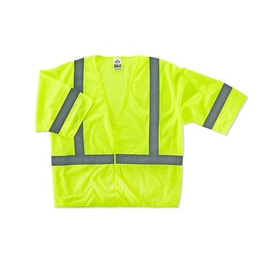 Ergodyne® GloWear® 8310HL Class 3 Hi-Visibility Economy Vest, Lime, 4XL/5XL
