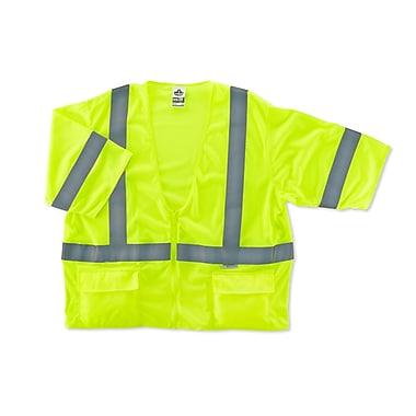 Ergodyne® GloWear® 8320Z Class 3 Hi-Visibility Standard Vest, Lime, Large/XL