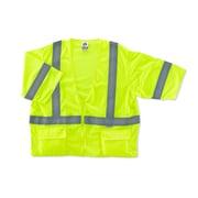Ergodyne® GloWear® 8320Z Class 3 Hi-Visibility Standard Vest, Lime, 4XL/5XL