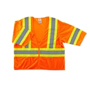 Ergodyne® GloWear® 8330Z Class 3 Hi-Visibility Two-Tone Vest, Orange, Small/Medium
