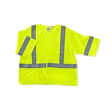 Ergodyne® GloWear® 8356HL Class 3 Hi-Visibility Flame Resistant Modacrylic Vest, Lime, Small/Medium