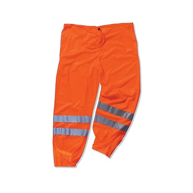 Ergodyne® GloWear® 8910 Class E Hi-Visibility Pant, Orange, Large/XL