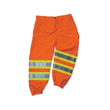 Ergodyne® GloWear® 8911 Class E Two-Tone Pant, Orange, Small/Medium