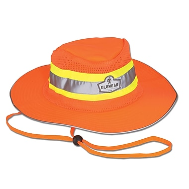 Ergodyne® GloWear® 8935 Hi-Vis Ranger Hats, Large/XL, Orange