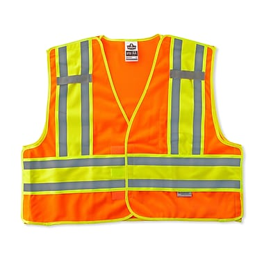 Ergodyne® GloWear® 8245 Public Safety Vest, Orange, 2XL/3XL