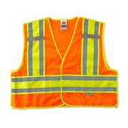 Ergodyne® GloWear® 8245 Public Safety Vest, Orange, 4XL/5XL