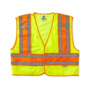 Ergodyne® GloWear® 8245 Public Safety Vest, Lime, 4XL/5XL