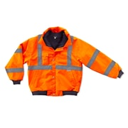Ergodyne® GloWear® 8380 Class 3 Hi-Visibility Bomber Jacket, Orange, 3XL