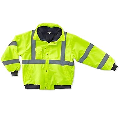 Ergodyne® GloWear® 8380 Class 3 Hi-Visibility Bomber Jacket, Lime, Medium