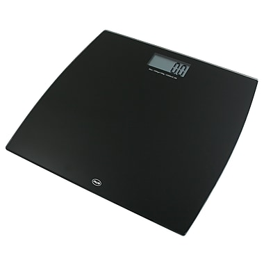 American Weigh Scales 330LPW Low Profile Bathroom Scale, Black