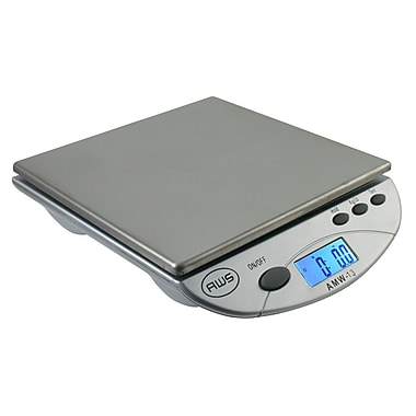 American Weigh Scales AMW-13 Digital Postal/Kitchen Scale, Silver