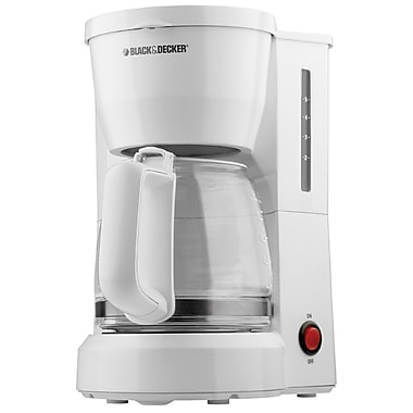 Black & Decker® 5 Cup Coffee Maker, White
