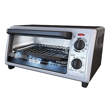Applica™ Black&Decker® 1500 W 4 Slice Toaster Oven, Black