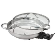 Aroma® Gourmet Series Electric Skillet, Stainless Steel