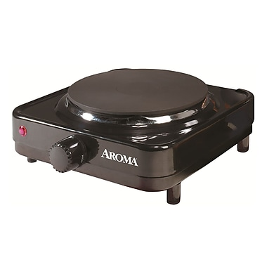 Aroma® Die Cast Iron Single Burner Hot Plate, Black