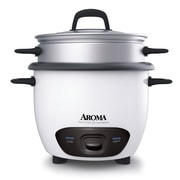 Aroma® 6 Cup Pot-Style Rice Cooker & Food Steamer, White
