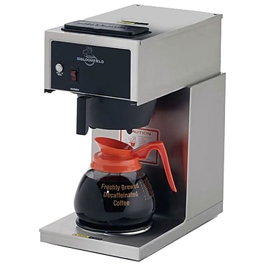 Bloomfield® 12 Cup One Warmer In-Line Pour-Over Coffee Brewer, Black/Steel