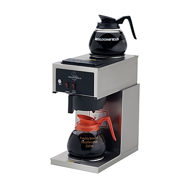 Bloomfield® 12 Cup Two Warmer In-Line Pour-Over Coffee Brewer, Black/Steel