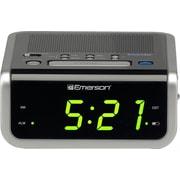 Emerson Radio™ Smartset CKS1702 Single Alarm Clock Radio, Black