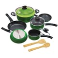 Epoca® Elements 12 Piece Aluminum Cookware Set, Green