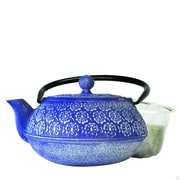 Primula® PCI-4340 40 oz. Floral Cast Iron Teapot, Blue