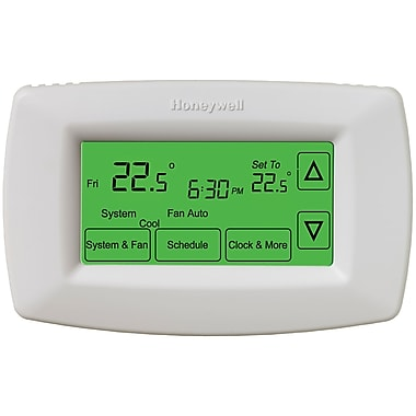 Honeywell® RTH7600D 7 Day Touch Screen Programmable Thermostat, White
