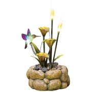 Kelkay® easy fountain® 520 mm Nature Glow Rock Pool Haven Fountain With LED Light, Brown
