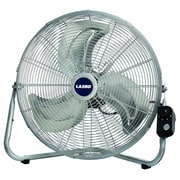 "Lasko® 20"" Max Performance High Velocity Floor/Wall Mount Fan, Silver"