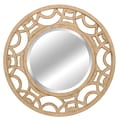 Lofty Ardant 34in. x 34in. x 1.4in. Polyurethane Framed Mirror, Antique White