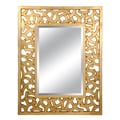 Lofty Ardant 54.4in. x 43.6in. x 1.2in. Polyurethane Framed Mirror, Champagne Gold