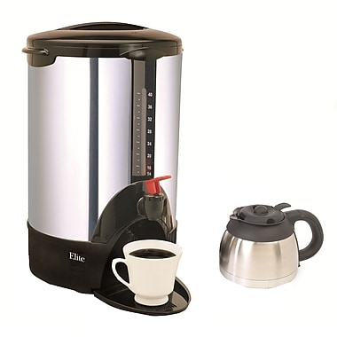 Elite CCM-07X 40-Cup Coffee Brewer, Chrome