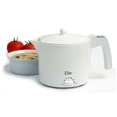 Maxi Matic® Elite Cuisine 32 oz. Electric Hot Pot Kettle With Egg Boiler and Steam Rack