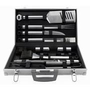 Mr. Bar-B-Q® Stainless Steel Tool Set With Aluminum Case, 21 Pieces/Set