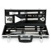 Mr. Bar-B-Q® Stainless Steel Tool Set With Aluminum Case, 18 Pieces/Set