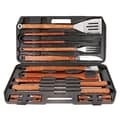 Mr. Bar-B-Q® Gourmet Stainless Steel Tool Set With Plastic Case, 18 Pieces/Set