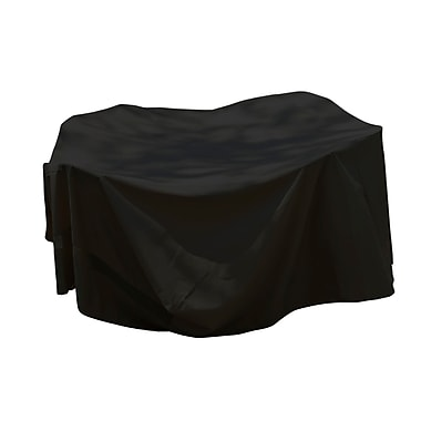 Mr. Bar-B-Q® Backyard Basics™ Rectangle Patio Set Cover, Black, Large