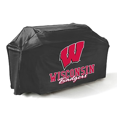 Mr. Bar-B-Q® Wisconsin Badgers Grill Cover, Black