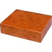 Quality Importers Riviera Cigar Humidor, Light Burl