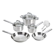 T-fal® Elegance 10 Piece Dishwasher Safe Stainless Steel Cookware Set