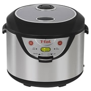 T-fal® Balanced Living 20 Cup 3-in-1 Rice Cooker With Slow Cooking Function, Silver