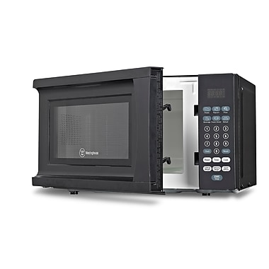 W Appliance 700 W Microwave Oven With Push Button Touch Controls, Black
