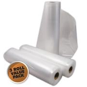 "Weston® 2 Ply Commercial Grade Vacuum Sealer Roll, 22' x 8"", 3/Pack"