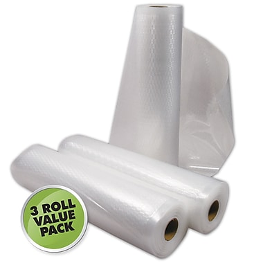 Weston® 2 Ply Commercial Grade Vacuum Sealer Roll, 18' x 11in., 3/Pack